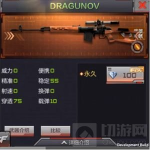 CF手游DRAGUNOV怎么样 体验服武器属性介绍