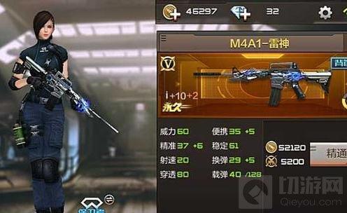 CF手游M4A1雷神和M4A1黑龙哪个特殊属性更强