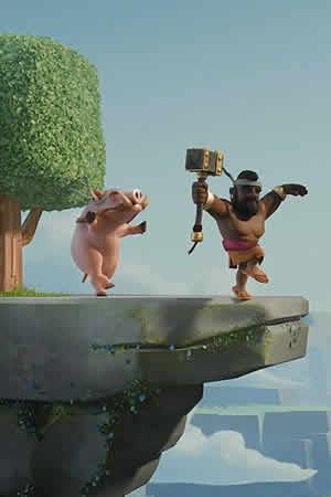 皇室战争手机高清壁纸分享 野猪骑士日常生活