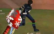 CF手游妖娆小楠圣诞铁锹个人竞技来一发 一刀一个