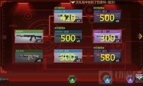 CF手游武器换购价格大全 换购武器价格列表