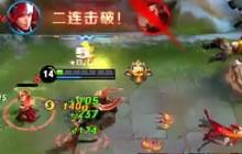 王者荣耀精彩反杀 韩信极限1V3强切后排三杀