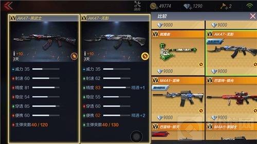 CF手游AK47黑武士与AK47系列对比分析 哪把好