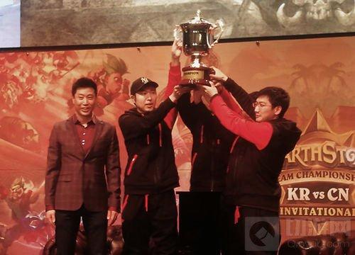 炉石传说中韩战队赛圆满落幕 恭喜WE夺冠!