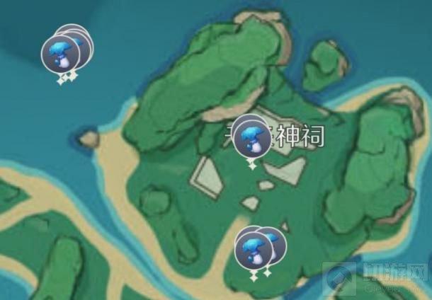 原神鹤观岛幽灯蕈位置大全 原神2.2版本幽灯蕈位置分布图